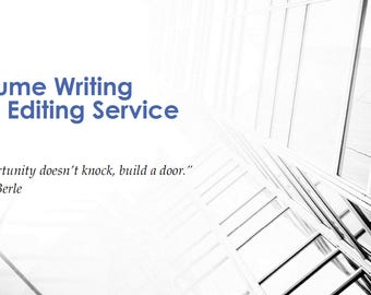 Resume Writing and Editing Service