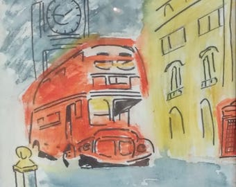 ALL ABOARD - water color