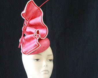 Bespoke Red Fascinator