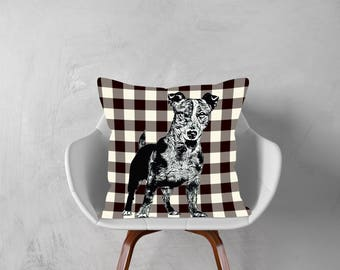 Jack Russell Terrier,Decorative Pillow, Dog Pillowcase, Personalized Pet, Give Gift of Love this Holiday Season or Just Brag About Your Pet.