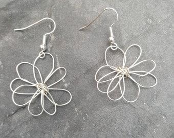 Daisy Earrings, Flower Earrings