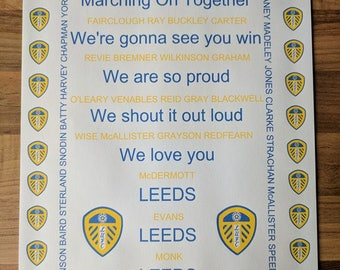 Leeds United A4 Supporters Unframed Print,Any Team Available,Football,Rugby