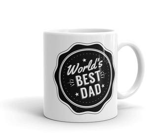 World's Best Dad Mug, Father's Day Gift, Best Dad Ever, Pregnancy Reveal Gift, New Dad Gift, Congratulations Dad, New Baby Dad Gift, dad mug