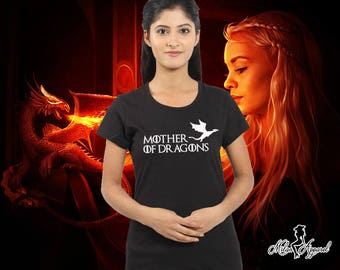 Mother Of Dragons Shirt, Khaleesi Daenerys Targaryen High Quality Soft T Shirt