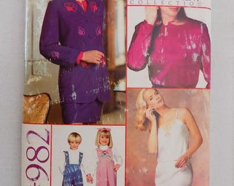 Vogue/Bernina Pattern and Embellishment Collection, Uncut/Unused, #982, From 1990