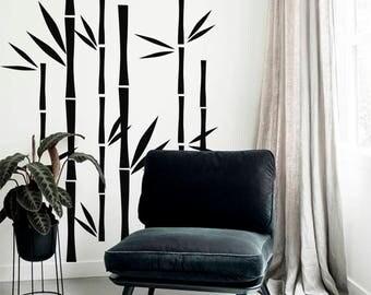Bamboo Wall Decal Bamboo Vinyl Decal Bamboo Tree Sticker Dorm Decal Modern Part 89