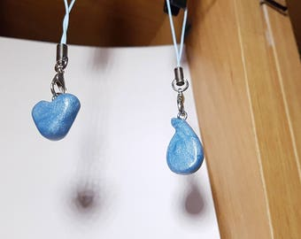 Heart and Teardrop Polymer Clay keychains