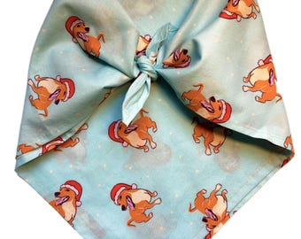 Santa Hat Dog Bandana