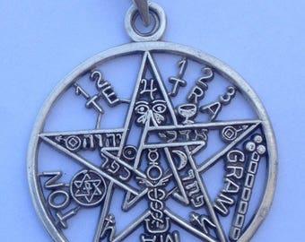 Tetragrammaton Star for Spell Protection 4.5 cms handmade Silver .925