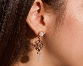 Branches and Shell looking earring