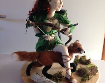 Fantasy//needle felted figure ' Dimèloe '//Geschenk//sexy//RPG//Games//Adventure//Deviantart//Kunst//rothaarig//gross//