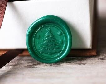 Christmas tree wax seal stamp kit, tree seal, Christmas gift,party wax seal stamp set, winter wax stamp