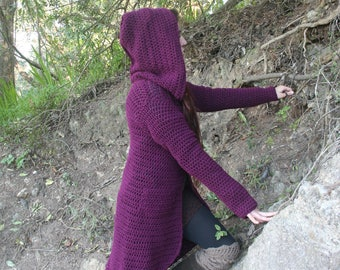 Faeryn  Coat with large Hood and a Longer back