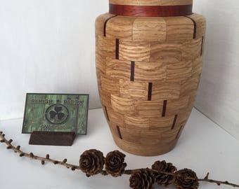 Segmented Vase Padauk&Oak