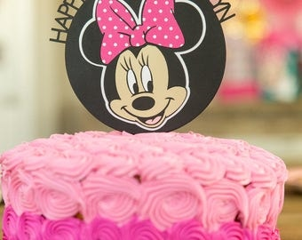 Minnie Mouse Custom Cake Topper