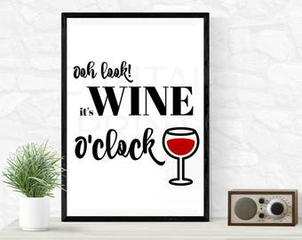 Wine O'çlock | Home Decor | Digital Print