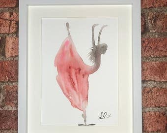 Red Watercolour Dancer