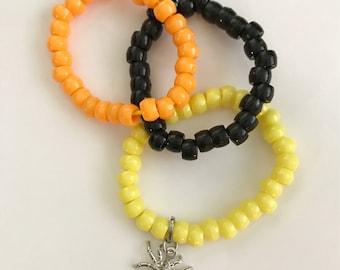 Halloween bracelet, fall bracelet, kids bracelet