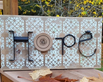 HOPE - repurposed hardware sign
