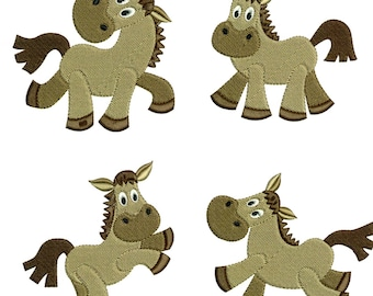 Embroidery Designs Horses Ponies Playful Ponies Fun Ponies