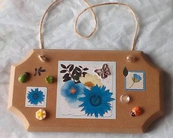 Handmade Indoor Wildlife Wooden Plaque.