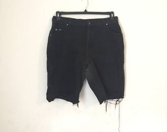 vintage highwaisted lee cutoffs - large - black - punk - jean - shorts