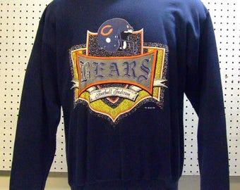 Vintage 1991 Chicago Bears NFL Football Sweatshirt Sweat Shirt Size XL