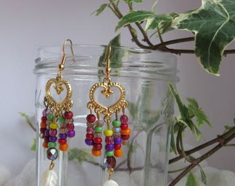 Earrings gold boho hippie chic
