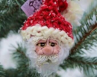 North Pole Santa Claus Adirondack Pinecone Christmas Ornament