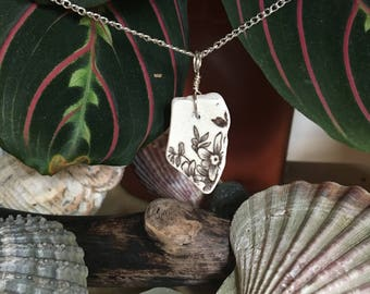 Genuine Scottish sea pottery necklace
