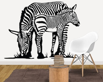 Zebra Wall Decal   Decor   Art   Vinyl Sticker   Kids Room   Animal