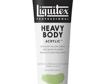 Brilliant Yellow Green, Liquitex Professional Heavy Body Acrylic Paint - 32% off Retail Price