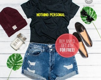 Introvert, Nothing personal, Introvert shirt, Womens shirt, Nothing personal shirt, Womens t-shirt, Introvert womens shirt