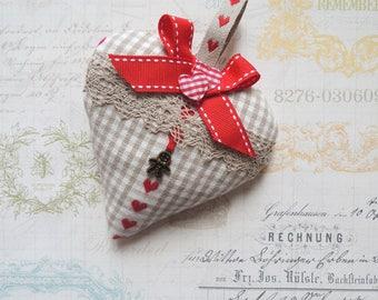 Decorative fabric hanging heart / gift