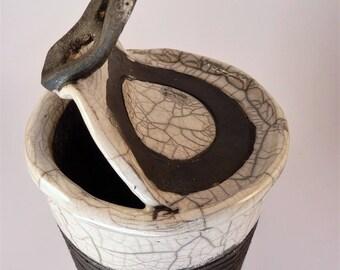 Tin white glaze - Raku ceramic