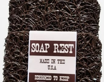 Chocolate Soap Rest  ..  Soap Saver .. Makes Your Bar Soap Last Longer .. 3 Pack
