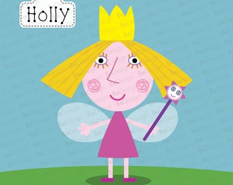Holly from Ben and Hollys little kingdom vector