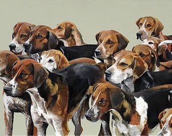 Anticipation in the Air - Hound Print