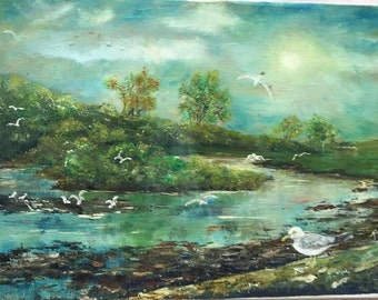 Oil Painting - Wick River