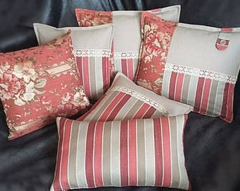 Set of six-style country pillows