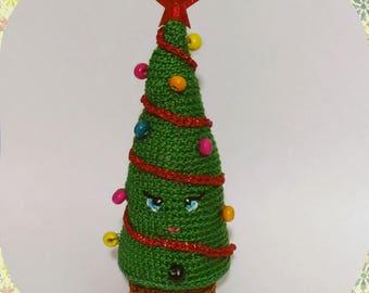 Crochet Christmas tree toy amigurumi