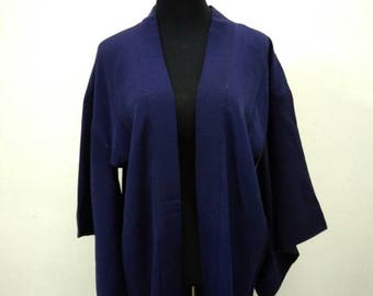 Japanese haori kimono blue kimono jacket /kimono cardigan/kimono robe/#016