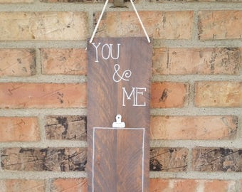 Wooden You and Me picture holder//You and Me//wooden picture holder//picture holder
