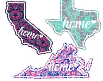 ALL STATES AVAILABLE Lilly Pulitzer {inspired} State Decal