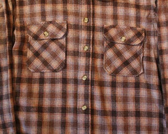 Vintage early 80's Size Medium Gimbals Flannel Shirt