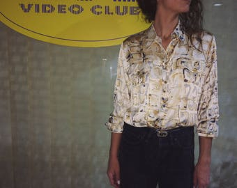 Vintage Escada silk patterned shirt