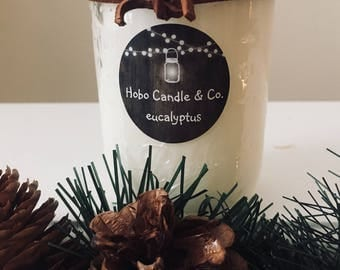 Eucalyptus Spearmint Scented Soy Candle