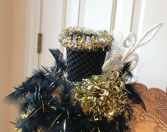 Black and Gold Festive Top Hat