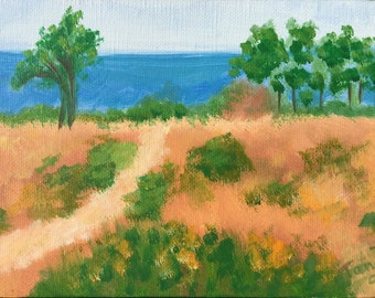 Oil painting of the Carpinteria Bluffs