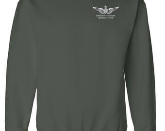 US Army Senior Aviator Embroidered Sweatshirt-7395